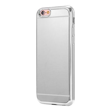 Etui na iPhone 6 / 6s platynowane FullSoft lustro - srebrny.