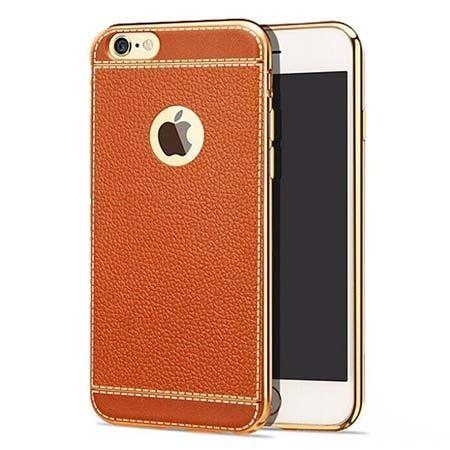 Etui na iPhone 6 / 6s silikonowe platynowane TPU Slim skóra - brązowy.