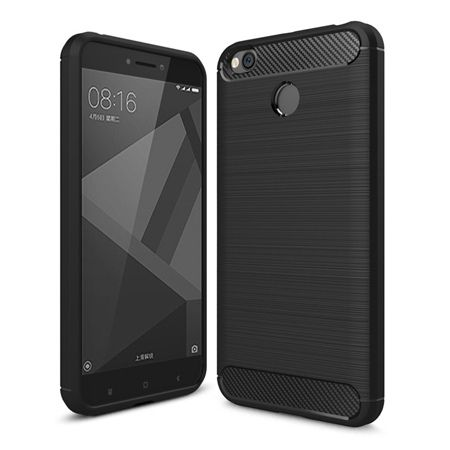 Etui na Xiaomi Redmi 4X bumper Neo CARBON - czarny.