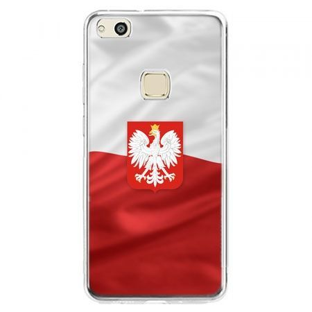 Etui na telefon Huawei P10 Lite - flaga Polski z godłem