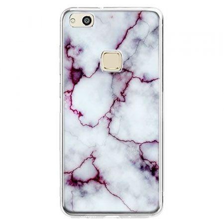 Etui na telefon Huawei P10 Lite - różowy marmur