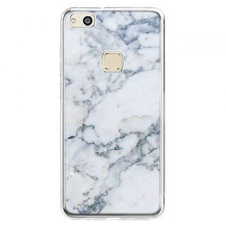 Etui na telefon Huawei P10 Lite - biały marmur