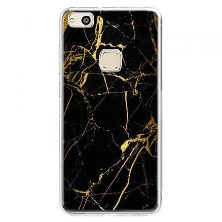 Etui na telefon Huawei P10 Lite - złoty marmur