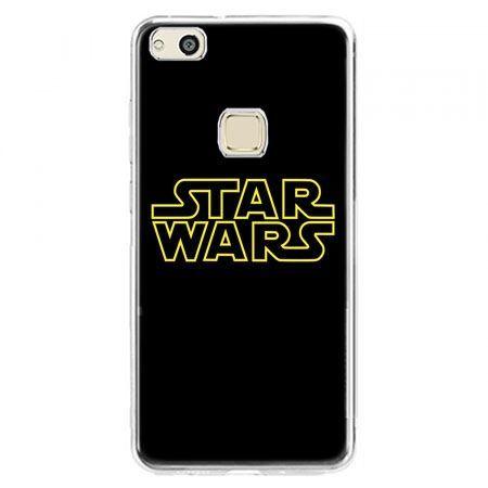 Etui na telefon Huawei P10 Lite - Star Wars złoty napis