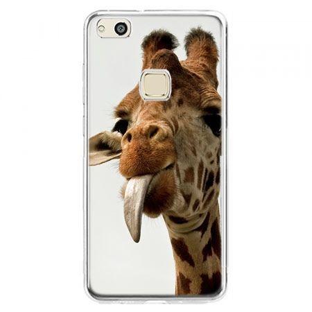 Etui na telefon Huawei P10 Lite - żyrafa z językiem