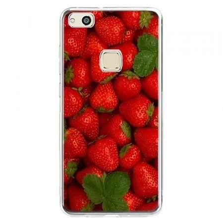 Etui na telefon Huawei P10 Lite - czerwone truskawki