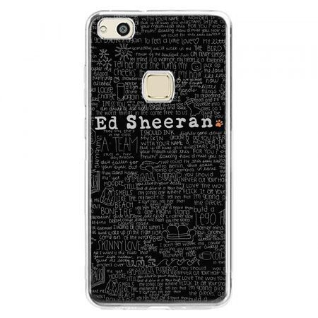Etui na telefon Huawei P10 Lite - ED Sheeran czarne poziome