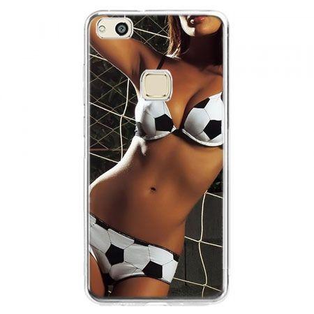Etui na telefon Huawei P10 Lite - kobieta w bikini football