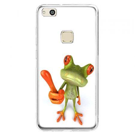 Etui na telefon Huawei P10 Lite - śmieszna żaba