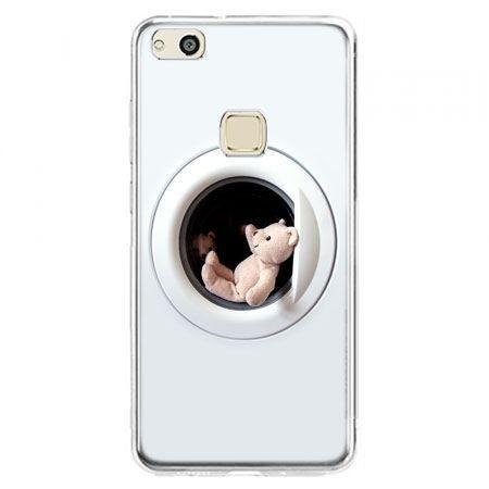 Etui na telefon Huawei P10 Lite - miś w pralce