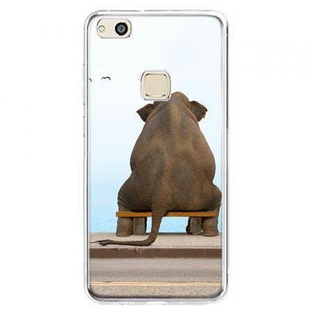 Etui na telefon Huawei P10 Lite - zamyślony słoń