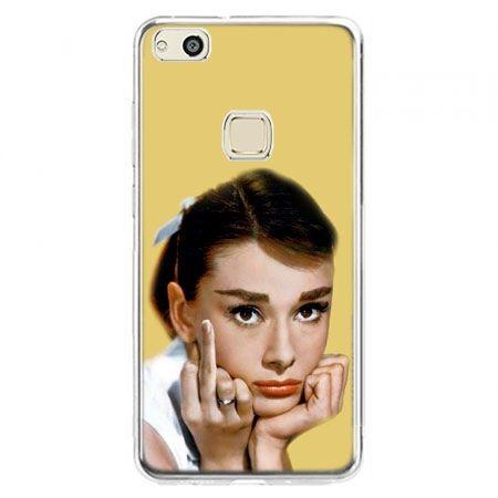 Etui na telefon Huawei P10 Lite - Audrey Hepburn Fuck You