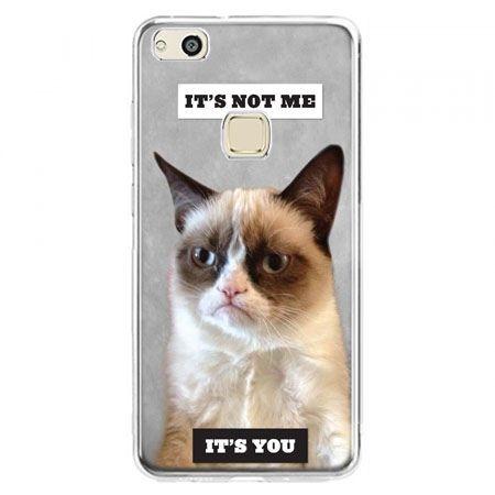 Etui na telefon Huawei P10 Lite - grumpy kot zrzęda