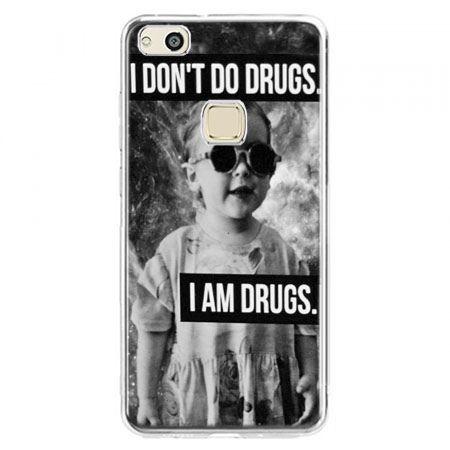 Etui na telefon Huawei P10 Lite - I don`t do drugs I am drugs