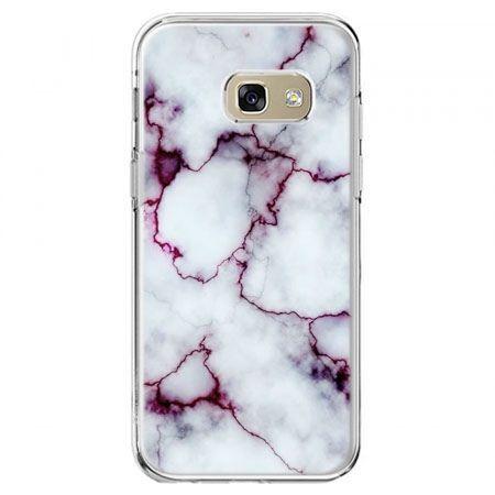 Etui na telefon Galaxy A5 2017 - różowy marmur