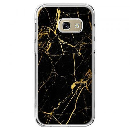 Etui na telefon Galaxy A5 2017 - złoty marmur