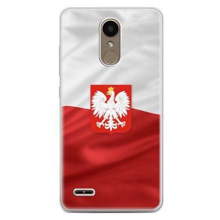 Etui na telefon LG K10 2017 - flaga Polski z godłem