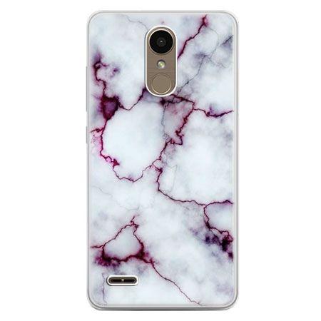 Etui na telefon LG K10 2017 - różowy marmur