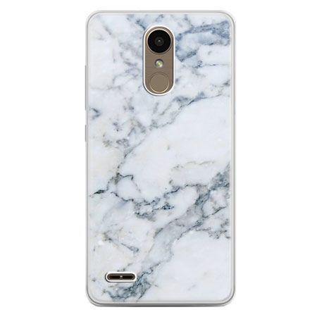 Etui na telefon LG K10 2017 - biały marmur
