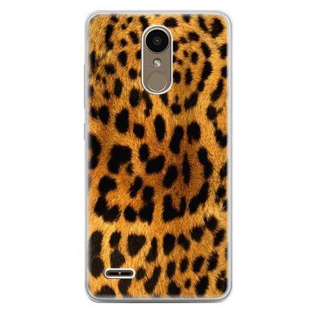 Etui na telefon LG K10 2017 - skóra lamparta