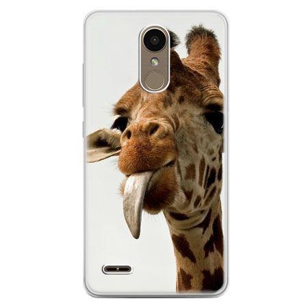 Etui na telefon LG K10 2017 - żyrafa z językiem