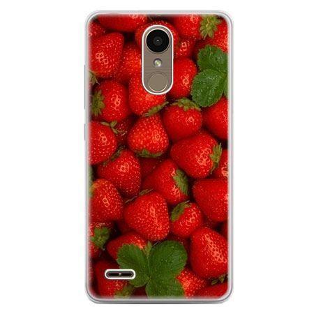 Etui na telefon LG K10 2017 - czerwone truskawki