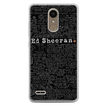 Etui na telefon LG K10 2017 - ED Sheeran czarne poziome