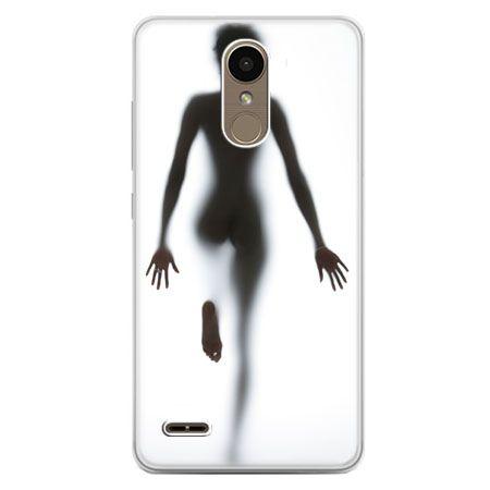 Etui na telefon LG K10 2017 - kobieta za szybą