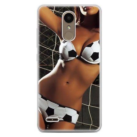 Etui na telefon LG K10 2017 - kobieta w bikini football