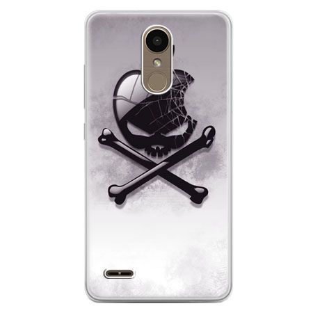 Etui na telefon LG K10 2017 - logo Apple czacha