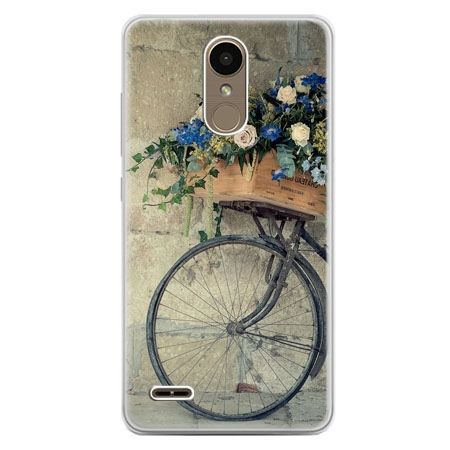 Etui na telefon LG K10 2017 - rower z kwiatami