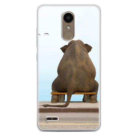 Etui na telefon LG K10 2017 - zamyślony słoń