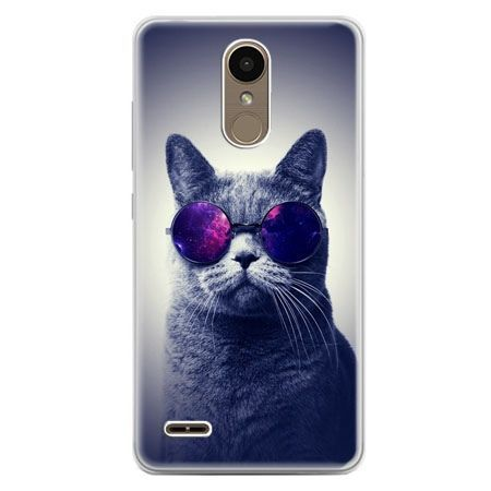Etui na telefon LG K10 2017 - kot hipster w okularach