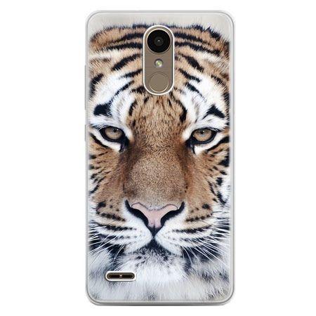 Etui na telefon LG K10 2017 - śnieżny tygrys