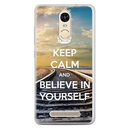 Etui na telefon Xiaomi Redmi Note 3 - Keep Calm and Believe in Yourself
