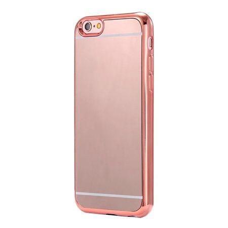 Etui na iPhone 6 / 6s platynowane FullSoft lustro - różowy.