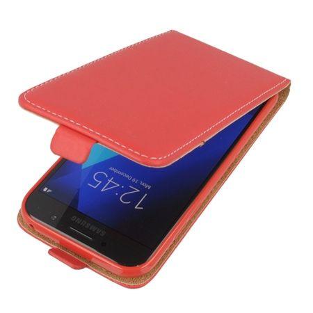 Etui na telefon Galaxy A5 2017 - kabura z klapką - czerwony.