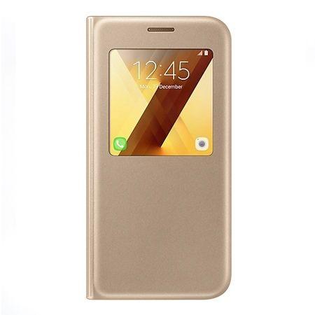 Etui na Galaxy A5 2017 - flip S-View z klapką - Złoty.
