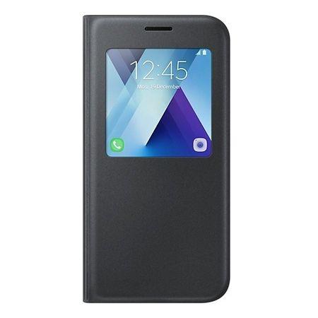 Etui na Galaxy A5 2017 - flip S-View z klapką - Czarny.