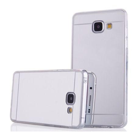 Etui na Galaxy A5 2017 mirror - lustro silikonowe TPU - srebrny.