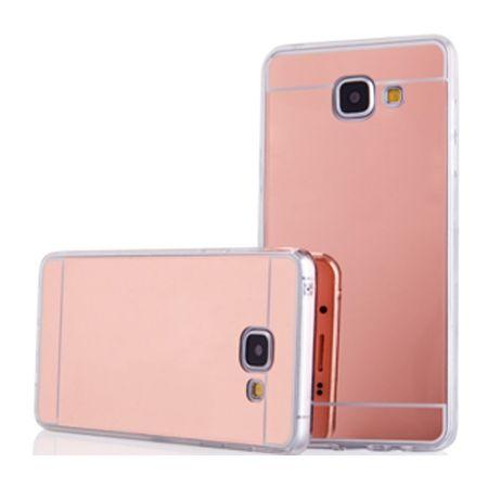 Etui na Galaxy A5 2017 mirror - lustro silikonowe TPU - różowy.