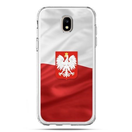 Etui na telefon Galaxy J5 2017 - flaga Polski z godłem