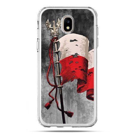 Etui na telefon Galaxy J5 2017 - patriotyczne flaga Polski