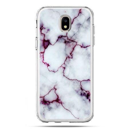 Etui na telefon Galaxy J5 2017 - różowy marmur