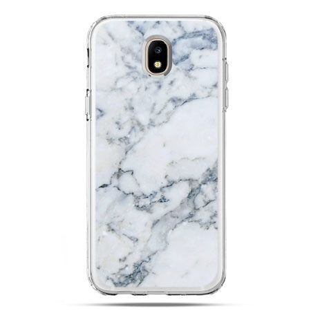 Etui na telefon Galaxy J5 2017 - biały marmur