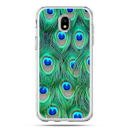 Etui na telefon Galaxy J5 2017 - pawie pióra