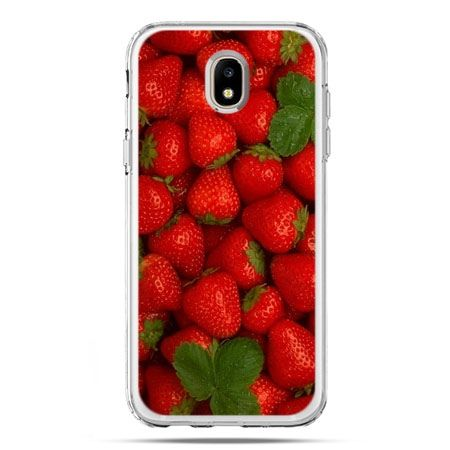 Etui na telefon Galaxy J5 2017 - czerwone truskawki
