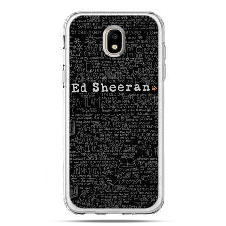 Etui na telefon Galaxy J5 2017 - ED Sheeran czarne poziome