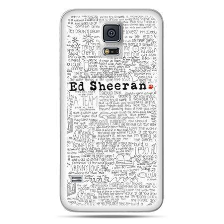 Galaxy S5 etui Ed Sheeran białe poziome - PROMOCJA !