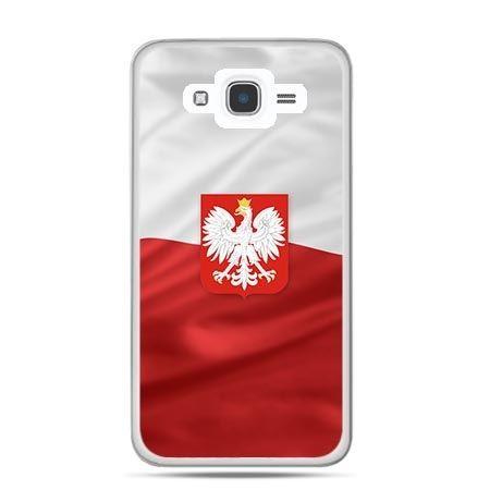 Etui na telefon Galaxy J7 (2016) patriotyczne - flaga Polski z godłem - PROMOCJA !